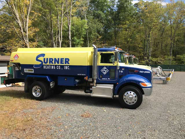 surner heating oil truck in Western Massachusetts