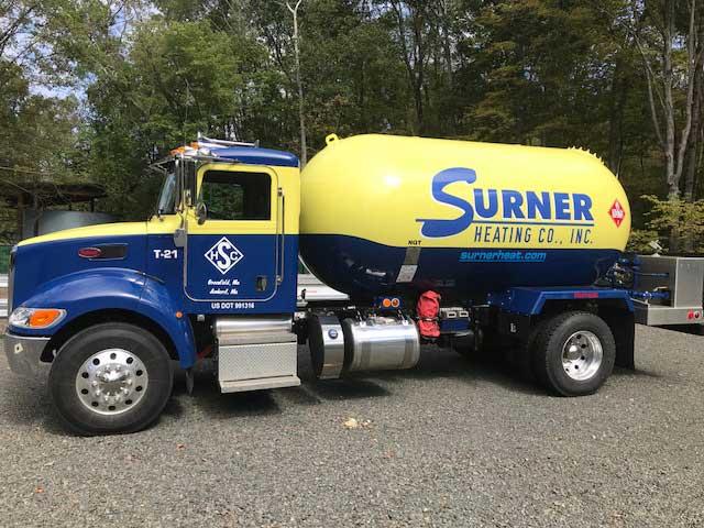 surner propane truck in Western MA