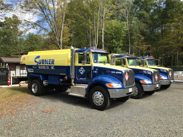 line of surner fuel trucks